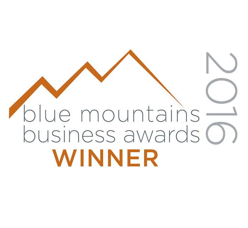 Blue Mts Business awards winner 2016