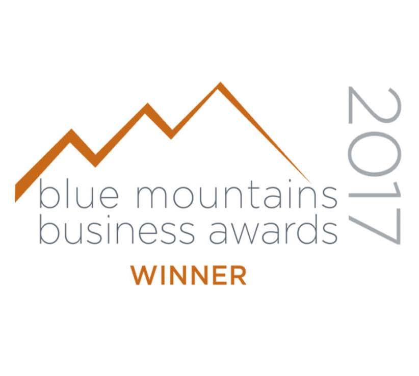 Blue Mts Business awards winner 2017