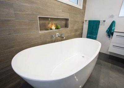 Freestanding new bathroom Woodford Homes